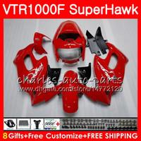 HONDA 용 VTR1000F SuperHawk TOP 팩토리 레드 97 98 99 00 01 02 03 04 05 91HM5 VTR 1000F 1997 1998 1999 2000 2002 2003 2004 2005 페어링