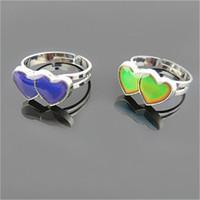 気分の指輪はあなたの温度に色を変えますあなたの内なる感情卸売100個/ロトファッションジュエリーを明らかにする