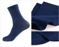 Оптово-носка Оптовая высокого качества 20Paris / Lot Мужчины чулки ультра тонкий Бамбуковые волокна Бизнес носки мужчин хлопчатобумажные носки 30cm.Free