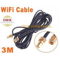 Cable de extensión libre de la antena RP-SMA del envío 3M WiFi para la venta caliente del router del Wi-Fi