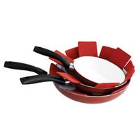 Al por mayor- 8pcs / lot Pan Protectors Pot Pad Table Mat Mantel individual Posavasos de copa Tela no tejida resistente al calor Decoración para el hogar Tamaño de bricolaje