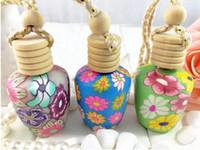 Livraison Gratuite Chine Style 15ML Voiture accrocher décoration bouteille de parfum pendentif en polymère Bouteilles vides, 50pcs / lot