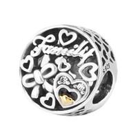Pandulaso семья дань очарование ясно CZ бусины для изготовления ювелирных изделий подходят Pandora браслеты ожерелье женщина DIY ювелирных изделий