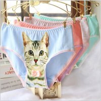 3D Printed Sexy Pussy Cat Panties Cotton Seamless Womens Bra...