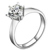 100 ٪ 925 الفضة الاسترليني 1CT سونا مقلد الماس إنفينيتي خواتم الزفاف الفضة للنساء ، 14K الصلبة الذهب الأبيض خاتم الزواج مطلي
