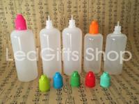 Yüksek Kalite Hızlı Kargo 120 ml Plastik Şişeler Boş E Sıvı Plastik Damlalık Şişeleri ile Çocuk Geçirmez Şişe Kapakları ve İğne İpuçları