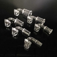 4mm Quartz nail banger Female Male 10mm 14mm 18mm 45 90 grados Clear Joint Quartz Bangers Nails Para Plataformas Petrolíferas Bongs de vidrio