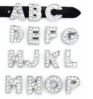 """8MM volle Rhinestone-Dia-Buchstaben """"U-Z können jeden Buchstaben wählen"""" (20PCS / lot) für DIY Telefon-Streifen-Schlüsselketten"""