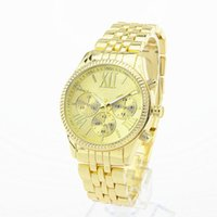 Top luxury brand mens women watches Stainless steel strap go...