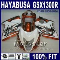 100% Einspritzverkleidungen für SUZUKI Hayabusa GSX1300R 2008 2009 2010 2011 2013 braun weiß GSX 1300R 08-14 Verkleidungssätze GSXR1300 IK09