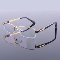 Novos Estilo Homens Puro Titânio Armações de Óculos Meio Quadro Espetáculo Molduras M8001 Óculos de Armação Óptica de Alta Qualidade