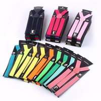 Klipsli Jartiyer Elastik Şeker Y-Şekil Ayarlanabilir Parantez 31 Renkler 2.5 cm Geniş Unisex Erkekler Bayan için Şükran Günü Noel Hediyesi