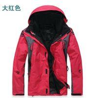 Fall-2015 new Double layer 2in1 Warm men's outdoor ski jackets waterproof men's outdoor jackets stylish outdoor men's ski suit
