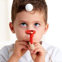 50pcs 도매 어린이 나무 불어 공 막대 완구 아기 퍼즐 불알 공 균형 교육 부동 공 어린이 소년 소녀 교육 장난감