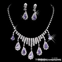 2019 lussuoso brillante brillante elegante nuziale da sposa da sposa argento placcato rhinestone crystal gioielli birdhard nuovo collana e set di orecchini