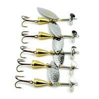 Metal spinner isca gancho 9 cm 12.5g ouro cor atificial spinnerbaits ferro colheres iscas de pesca