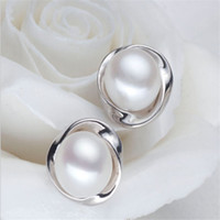 Rose Gold  White Gold Plated 100% Genuine Freshwater Pearl J...