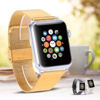 Cabina di cinturino in acciaio inossidabile oro per apple watch band 42mm 38 mm adattatore adattatore metallo con connettore classico fibbia classica per orologio Apple HOCO