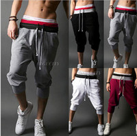 Wholesale- Summer Style Mens Harem Capri Sport Athletic Bagg...