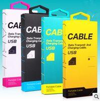 Universal Micro USB Charger Adaptateur Type C Papier Cable Cable Vide Boîte de paquet de détail pour téléphone portable avec poignée