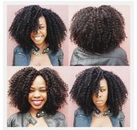 아프로 킨키 컬리 클립 인모 헤어 익스텐션 4a, 4b, 4c 7 piece 120g / pcs 아프리카 계 미국인 흑인 여성을위한 몽골 클립 인형 G-EASY