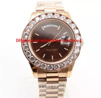 Christmas gift Top Quality Mens Watch Big Diamonds Day- Date ...