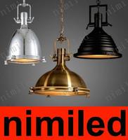 Nimi611 Retro Demir RH Benson Sarkıt Loft Işık mutfak Aydınlatmak Işyeri Vintage Aydınlatma Armatürü Sanayi Tarzı Avize Işıkları