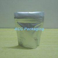 3.1''x4.7 '' (8x12cm) Mylar Stand Up di alluminio puro confezione sacchetto per Caffè Noci Tè sigillabile Zipper blocco Bag