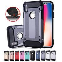 Per iPhone 11 Pro Hybrid Max X cassa dell'armatura 8 Superior dura del PC e gomma goccia Resistenza caso della copertura posteriore per Samsung S20 Nota 10 con il sacchetto di Opp