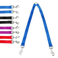 2 Leads Nylon Coupler Dog Walking Leash Double Multiple Twin...