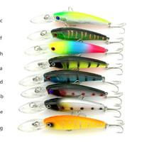 En iyi Wobbler Crankbait BASS Hooks Gökkuşağı balıkçılık cazibesi 9.2 cm 8.4g 8 renkler Plastik Minnow jerkbait sığ Yapay yem balığı