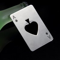 Poker Shaped Bottle Can Opener Stainless Steel Credit Card S...
