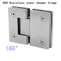free shipping 304 stainless steel 180 degrees precision bilateral glass shower glass hinge hm7118 glass door hinge 2 pieces