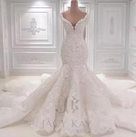 Vestido De Noiva Vestidos De Novia De Encaje 2018 Diseñador de Primavera Nuevas Perlas de Cristal Bordado Para La Iglesia Vestidos de Fiesta de Boda Vestidos de Novia