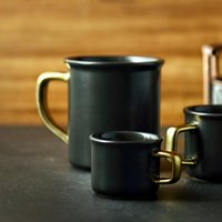 Matte Ceramic Mugs Creative Ceramic Coffee Cups Black Brief ...