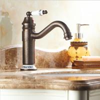 Roman Bronze and Porcelain Faucets Kitchen Sink Bathroom Bas...