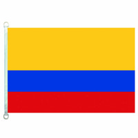 Kolombiya Bayrağı Afiş 3X5FT-90x150 cm 100% Polyester, 110gsm Çözgü Örme Kumaş Açık Bayrağı