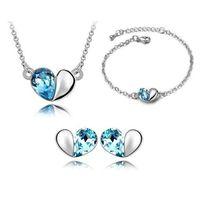Комплект для подружек невесты, как 925 стерлингового серебра, цепочки, браслеты, ожерелья, подвески, серьги, индийские африканские хрустальные украшения, комплекты ювелирных изделий для вечеринок