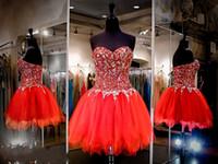 Funken Kristall Kurze Ballkleider Eine Linie Vestidos De Fiesta Luxus Party Kleider mode Schatz Zurück Reißverschluss Homecomging Kleider