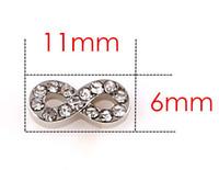 Partihandel 20st / Lot Crystal Silver Infinity Alloy Floating Locket Charms Fit för glasminne Locket Gift för vänner