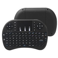 Mini RII I8 Teclado inalámbrico 2.4G Mouse de aire Mouse Remoto Control TouchPad Retroiluminación Retroalimentación para Smart Android TV Caja Tablet PC Inglés 20pcs