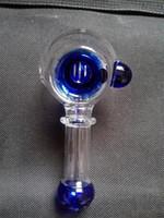 tubo de fumo de vidro, colher de mão