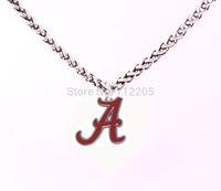 Smalto single-sided Alabama Crimson Tide collane logo della catena catena di grano del braccialetto di collegamento di trasporto con la collana del catenaccio Grande