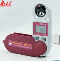 미니 풍력계 풍속 기류 온도 습도 Windchill 이슬점 열 지수 고도 기압 측정기 테스터 8910