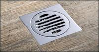 Drainer Square Shower Bodenablauf mit abnehmbarem Sieb Fliesen-In Design flacher Chrom 4x4 Zoll für den Verkauf Großhandel