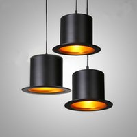 Modern Hat Pendant Lights Cafe Restaurant Bar E27 Indoor Han...