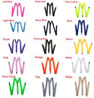 Bretelle bambini Bretelle regolabili Clip-on Pantaloni elastici Bretelle Y-back Bretelle Cintura bambini Nero 26 Colori Scegli un regalo Spedizione gratuita