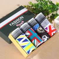 4PCS LOT Underwear Mens Boxer Cotton Boxer Homme Pull in Und...