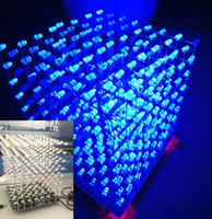 3D 8S Music Light Cube kit 8x8x8 Music Spectrum Blue LED Ele...