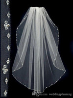 2018 Beaded Short Wedding Veils With The Beaded Pinterest Po...